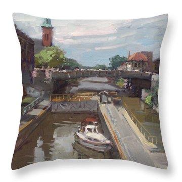 Lockport Locks Throw Pillow