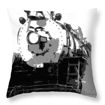 Locomotion Throw Pillow by Richard Rizzo