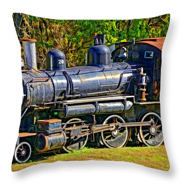 Locomotive 201 Throw Pillow by Dennis Cox WorldViews