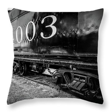 Locomotive Engine Throw Pillow
