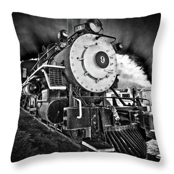 Locomotive Nine Throw Pillow