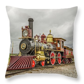 Throw Pillow featuring the photograph Locomotive No. 119 by Sue Smith