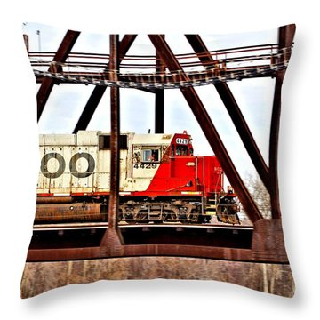 Locomotive Number 4429 Throw Pillow