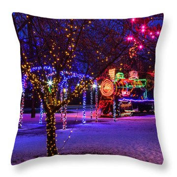 Locomotive Park Lewiston Throw Pillow