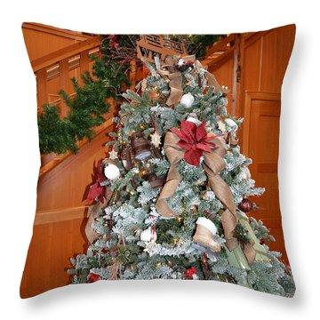 Lodge Lobby Tree Throw Pillow
