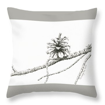 Lodgepole Pine Cone Throw Pillow