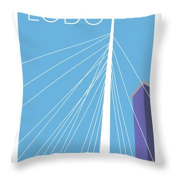Lodo/blue Throw Pillow
