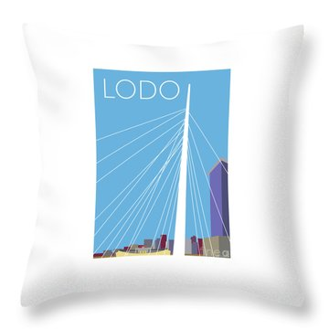 Lodo/blue Throw Pillow
