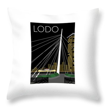 Lodo By Night Throw Pillow