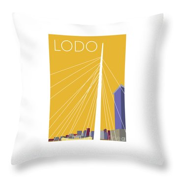 Lodo/gold Throw Pillow