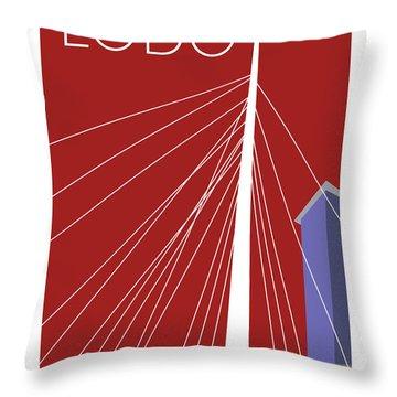 Lodo/maroon Throw Pillow