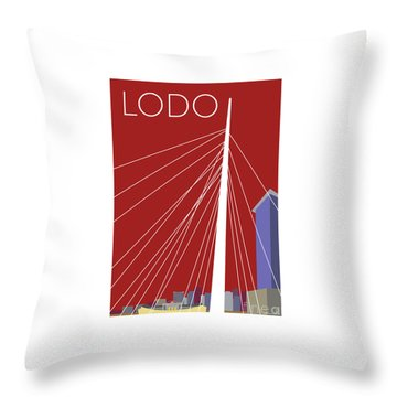 Lodo/maroon Throw Pillow