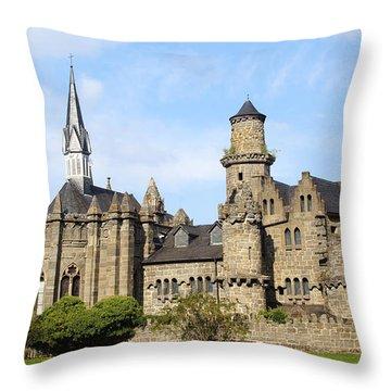 Loewenburg - Lionscastle Near Kassel, Germany Throw Pillow