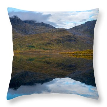 Throw Pillow featuring the photograph Lofoten Lake by James Billings
