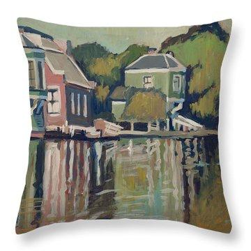 Lofts Along The River Zaan In Zaandam Throw Pillow