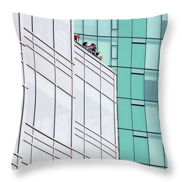 Throw Pillow featuring the photograph Lofty View by Chris Dutton