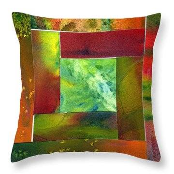 Log Cabin 3005 Throw Pillow by Katherine  Berlin