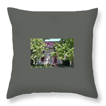 Log Cabin 5 - Lewes Delaware  Throw Pillow