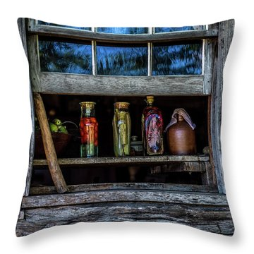 Throw Pillow featuring the photograph Log Cabin Window by Paul Freidlund
