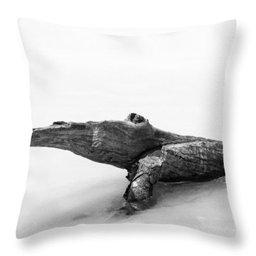 Log Monster Throw Pillow by Michael Hubley