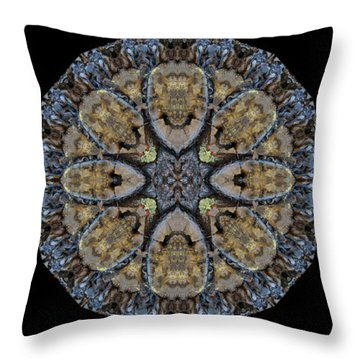 Log Priests Gathered Around Ghostly Face Throw Pillow