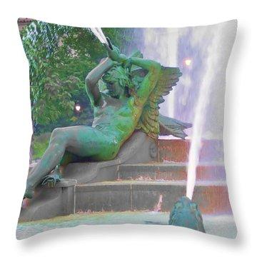 Logan Circle Fountain 4 Throw Pillow by Bill Cannon
