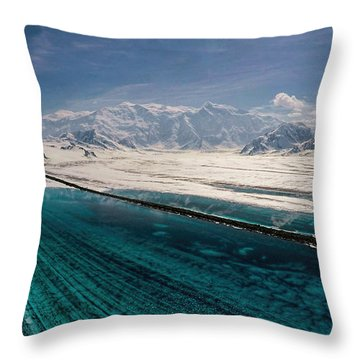 Logan Glacier Meltwater Throw Pillow