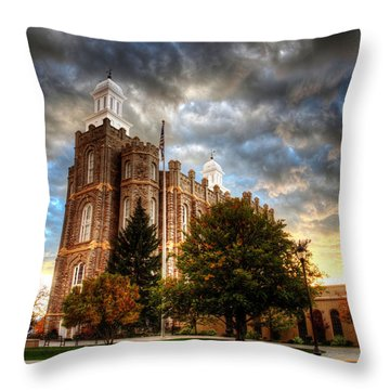 Logan Temple Cloud Backdrop Throw Pillow