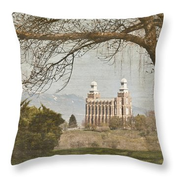 Logan Temple  Throw Pillow