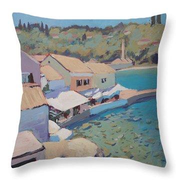 Loggos Pier View Throw Pillow by Nop Briex