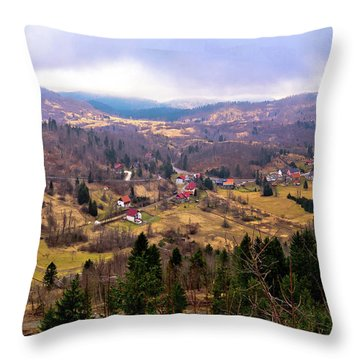Lokve Valley In Gorski Kotar View Throw Pillow