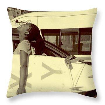 Leku. Loves Her Job. Throw Pillow
