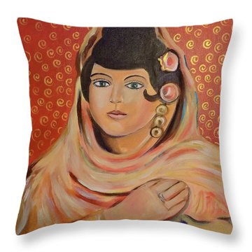 Throw Pillow featuring the painting Lola by John Keaton