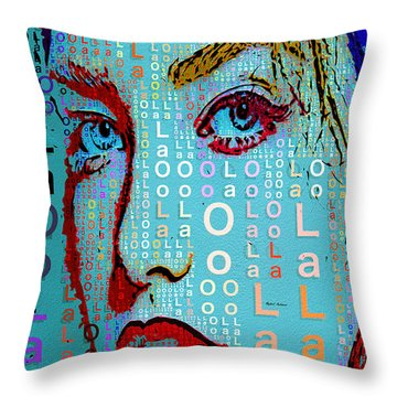 Throw Pillow featuring the digital art Lola Knows by Rafael Salazar