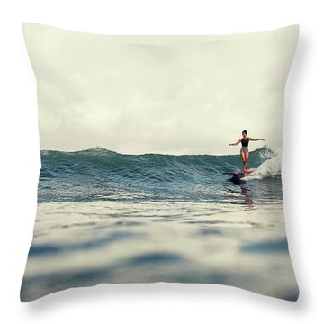 Throw Pillow featuring the photograph Lola by Nik West