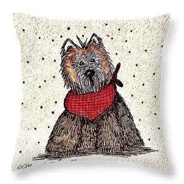 Lola The Dog Throw Pillow