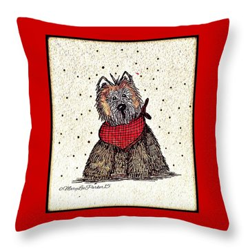 Lola The Dog Throw Pillow by MaryLee Parker