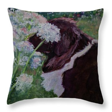 Lola's Lace Throw Pillow