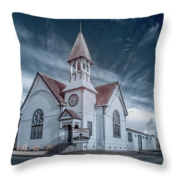 Throw Pillow featuring the photograph Loleta Church by Greg Nyquist