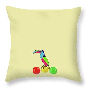 Lolipop Bird Throw Pillow