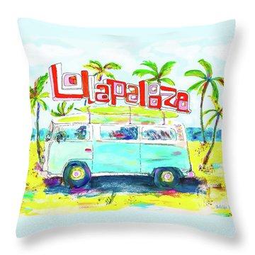 Lollapalooza Throw Pillow