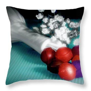Lollipop Roses Throw Pillow
