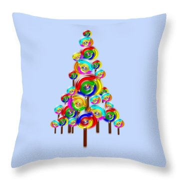 Lollipop Tree Throw Pillow
