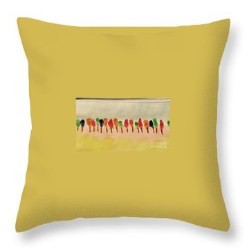 Lollipop Trees Throw Pillow