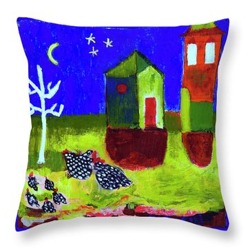 Lollipop Village Throw Pillow