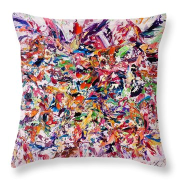 A Walk In The Field Throw Pillow