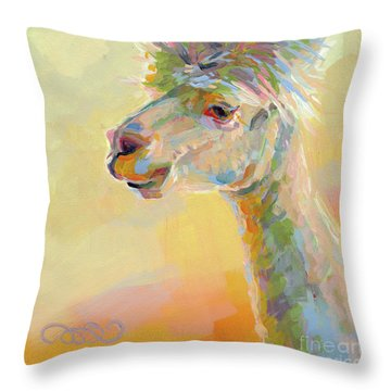 Lolly Llama Throw Pillow by Kimberly Santini