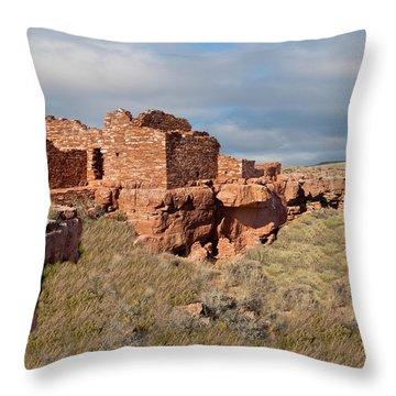 Lomaki Pueblo Ruins Throw Pillow