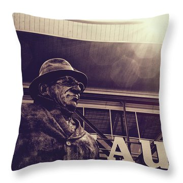 Lombardi - Shadow Of Greatness Throw Pillow