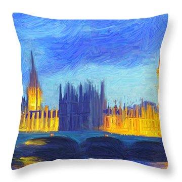 London 1 Throw Pillow
